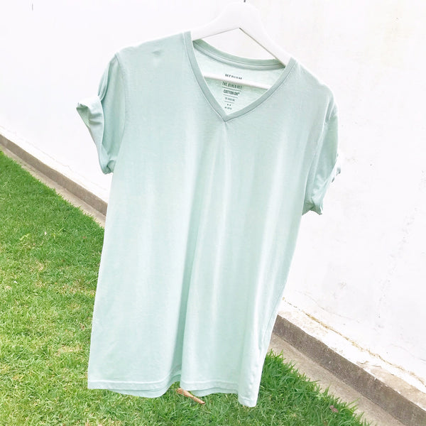 COTTON ON Mens Size M Unisex Tee T-shirt Pale Mint Green Curated by Faye #129