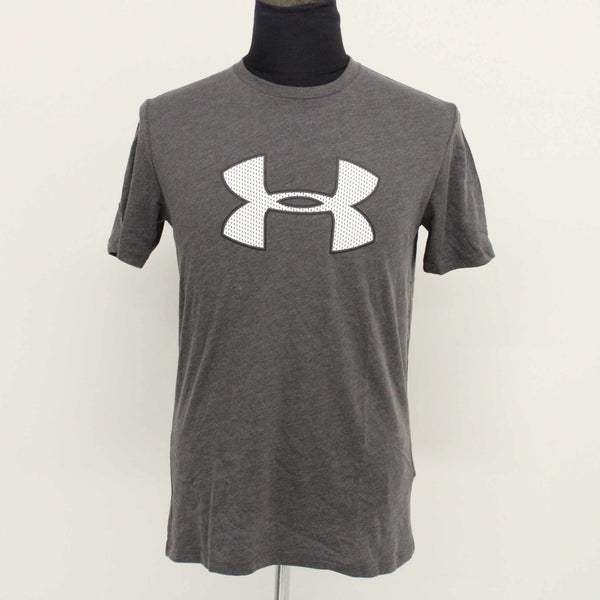 UNDER ARMOUR Heatgear Men's Loose Cotton Blend Grey T-Shirt Size SM #129