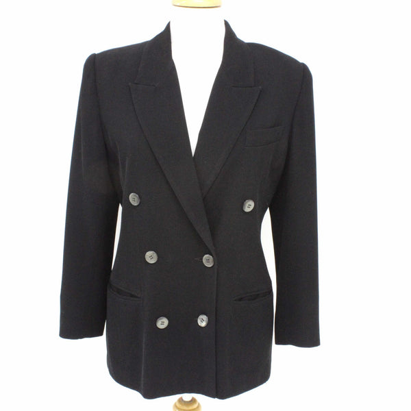 Trent Nathan Black Double Breasted Ladies Jacket size AU10 #209