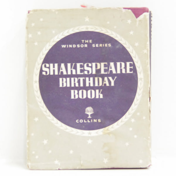 The Windsor Series - Shakespeare Birthday Book Hardcover Collectable #458