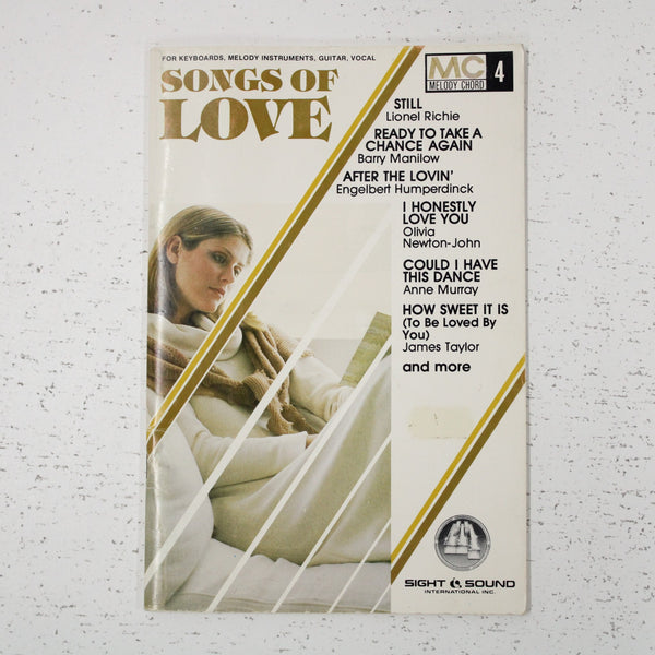 Songs Of Love by Melody Chord 1983 1980s Sheet Music Beatles Lionel Richie #405