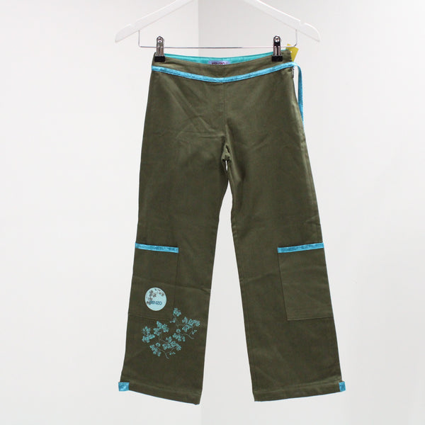 KENZO JUNIOR Green & Blue Casual Girls Pants BNWT Size 8 #405