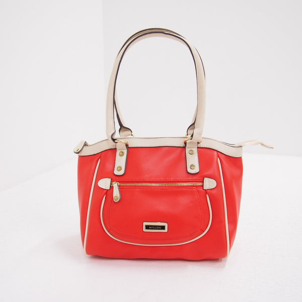 Milleni Medium Tote Shoulder Bag Handbag - Paprika (Product Code: NC 1919 PRKA)