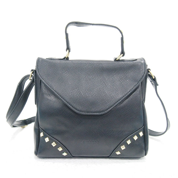 Milleni Small Satchel Bag Shoulder Bag Handbag - Black (PV 1953 Black)