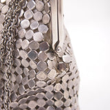 Brushed Stainless Steel Silver Chainmail Going Out Handbag #940