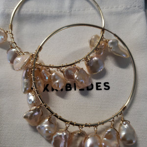 NKB Nikki Flutter Hoop Earrings Luxe