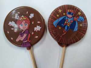 Chocolate Lollipops - Super Heroes