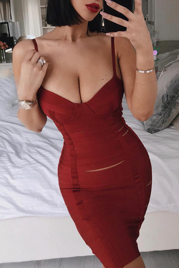 Bustier Cut Out Bandage Dress