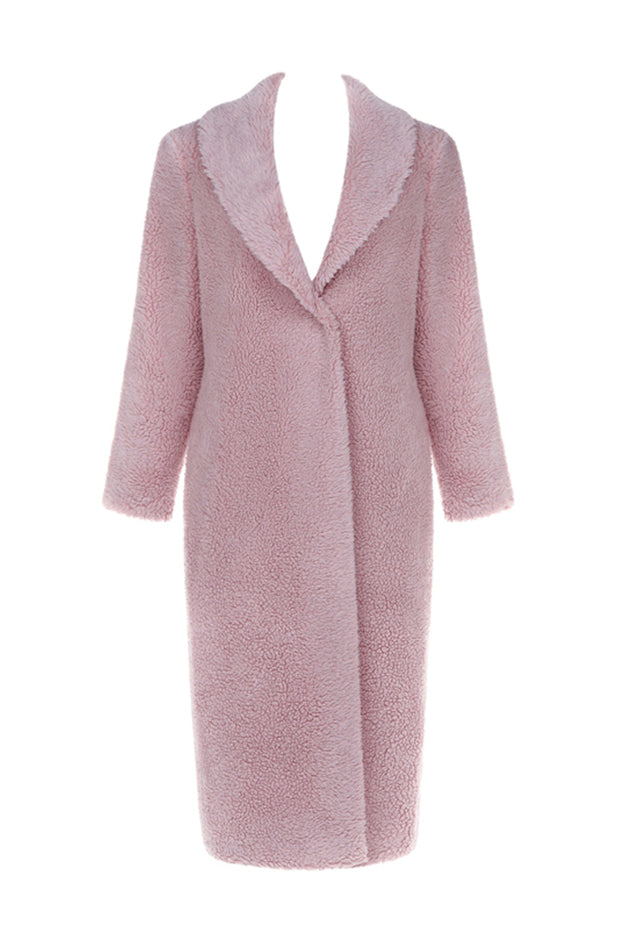 Wool Parka Coat -Pink
