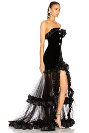 Strapless Gown-Black
