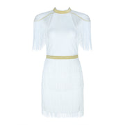 Midi Club Party Bandage White Dress