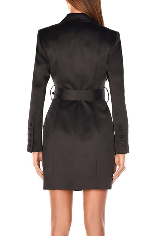 Carmen Jacket Dress-Black