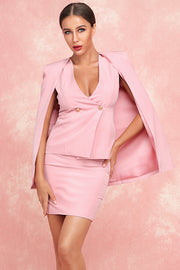 Lisa Cloak Two Piece Sets-Pink