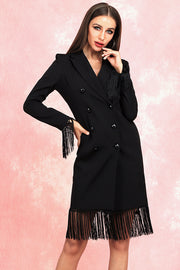 Beverley Fringe Long Sleeve Dress