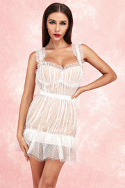 Alyssa Strap Mesh Lace Dress