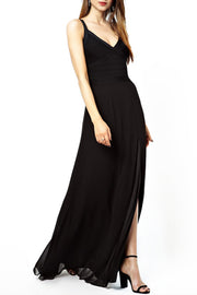 Sling Bandage Maxi Mermaid Dress - Black
