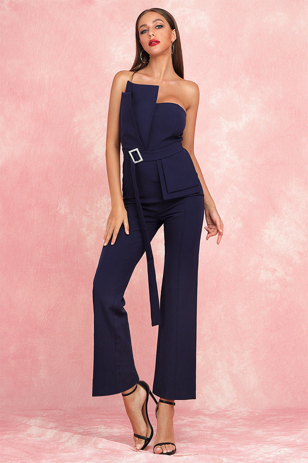Luna Jumpsuit-Dark Blue