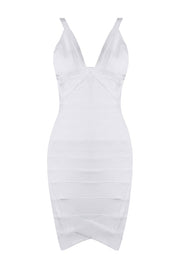 H5257 Bandage Dress - White only 2L Left