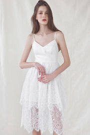 Lace Strap Chic Dress- White