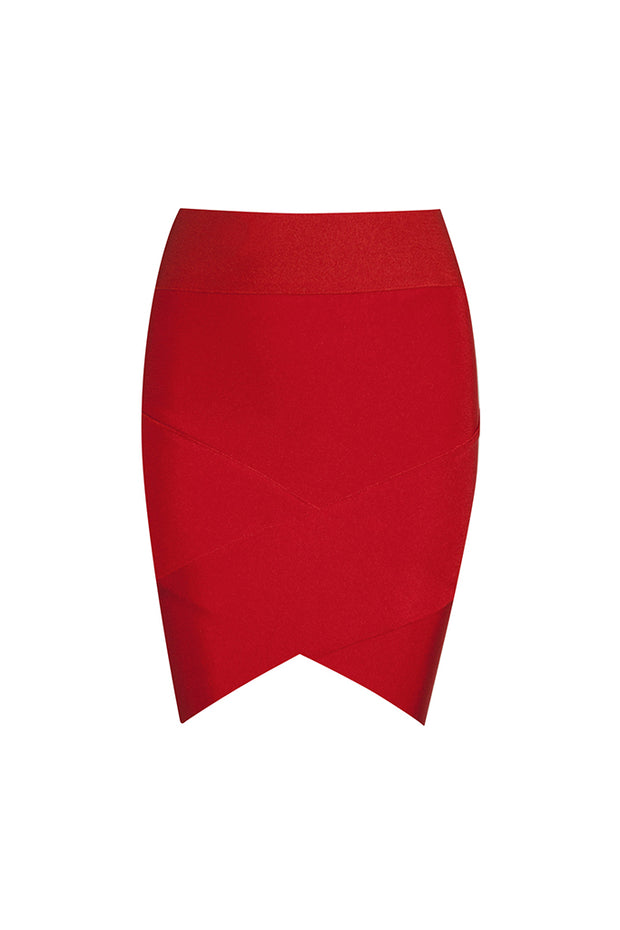 Solid Color Crisscross Bandage Mini Skirt