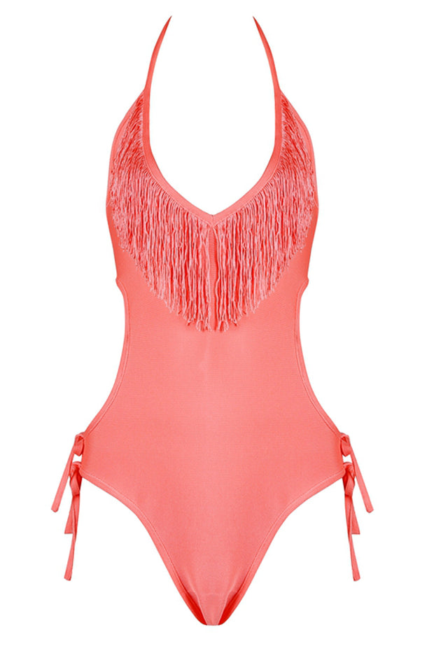 Lady Romper Sexy Halter Deep V Backless Women Bandage Bodysuit Bodycon Swimsuits