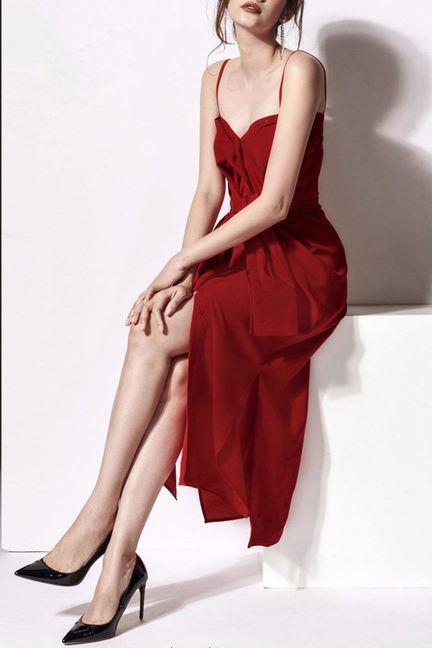 BH5946 Dress- Red