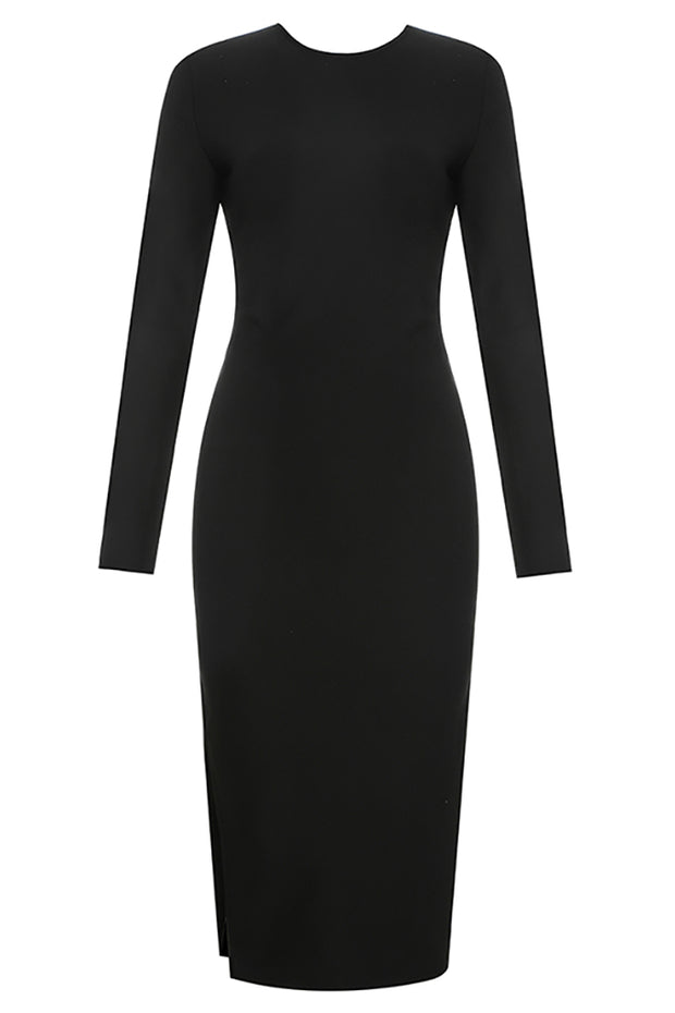 Bessie Back Cut-out Dress-Black