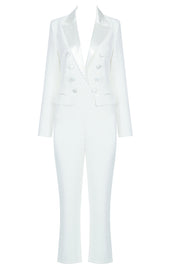 Britta Back Cutout Jumpsuits-White