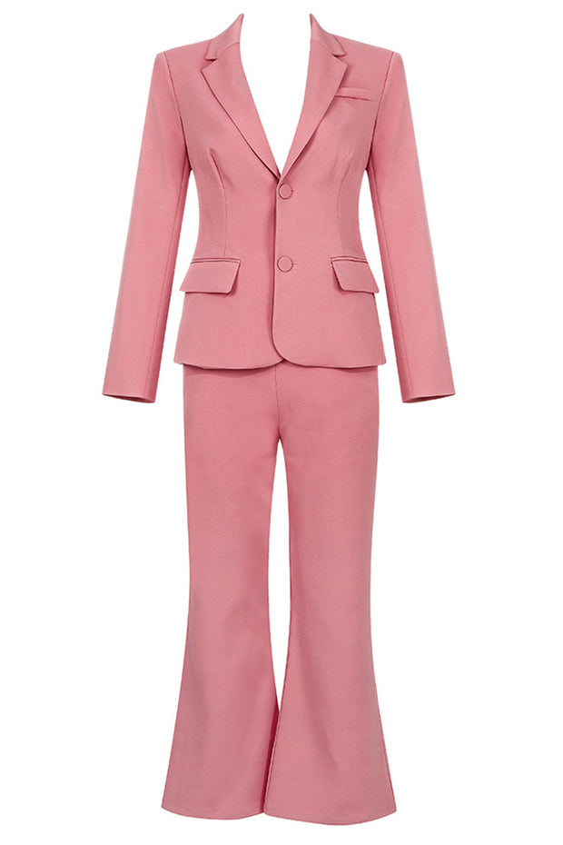 Callie Two-Piece Pantsuits-Pink
