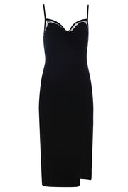 Audrey Sling Bandage Dress-Black