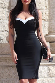 Straps Bodycon Bandage Dress