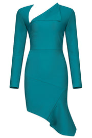 Ainsl Plunging Long Sleeve Dress-Green