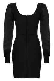 Coco Puff Sleeve Dress-Black