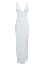 Audrey Sleeveless Bandage Dress-White