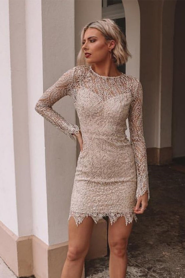 Sequin Sheer Mesh Mini Dress
