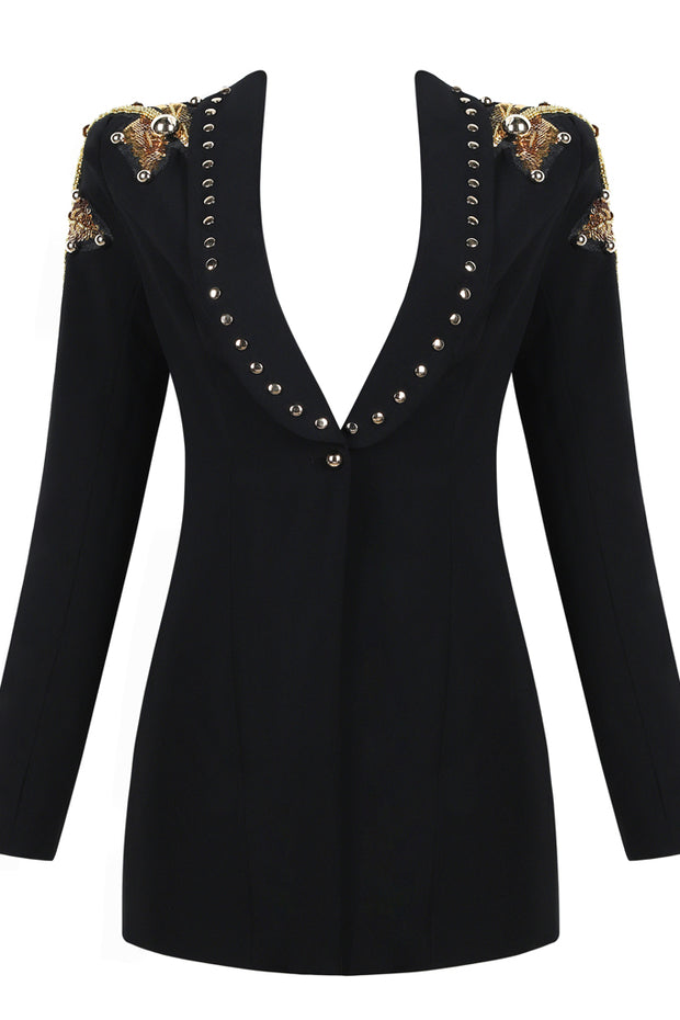 Long-Sleeve Black Coat