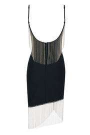 Spaghetti Straps Fringe Dress