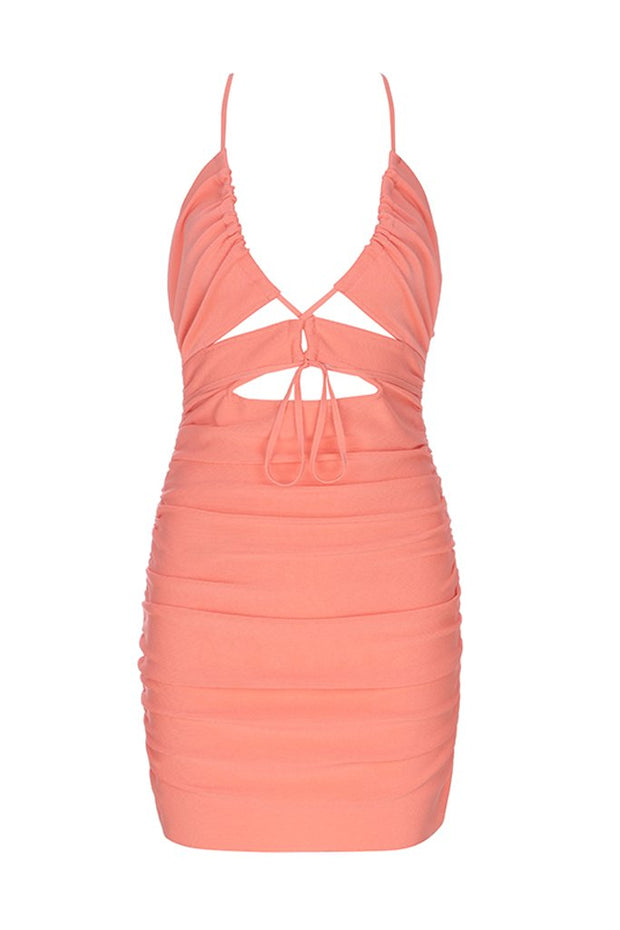 H5769 Bandage Dress- Orange