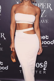 Cut Out Bodycon Bandage Midi Skirt