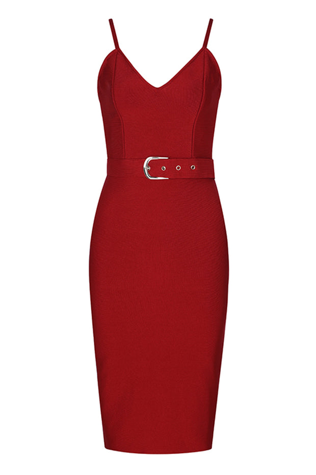 Sling Belt Bodycon Bandage Dress