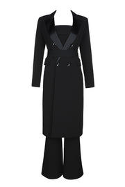 Bardot Wide leg Jumpsuit And Coat Two Piece Set