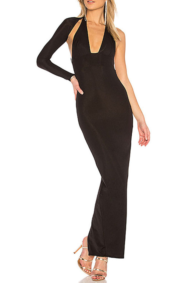 Hollow Out Backless Bandage Party Dress