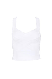 Strap Criss-Cross Bandage Crop Top