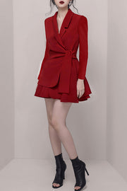 Two Pieces Sets Blazer Dress- 2 Colors