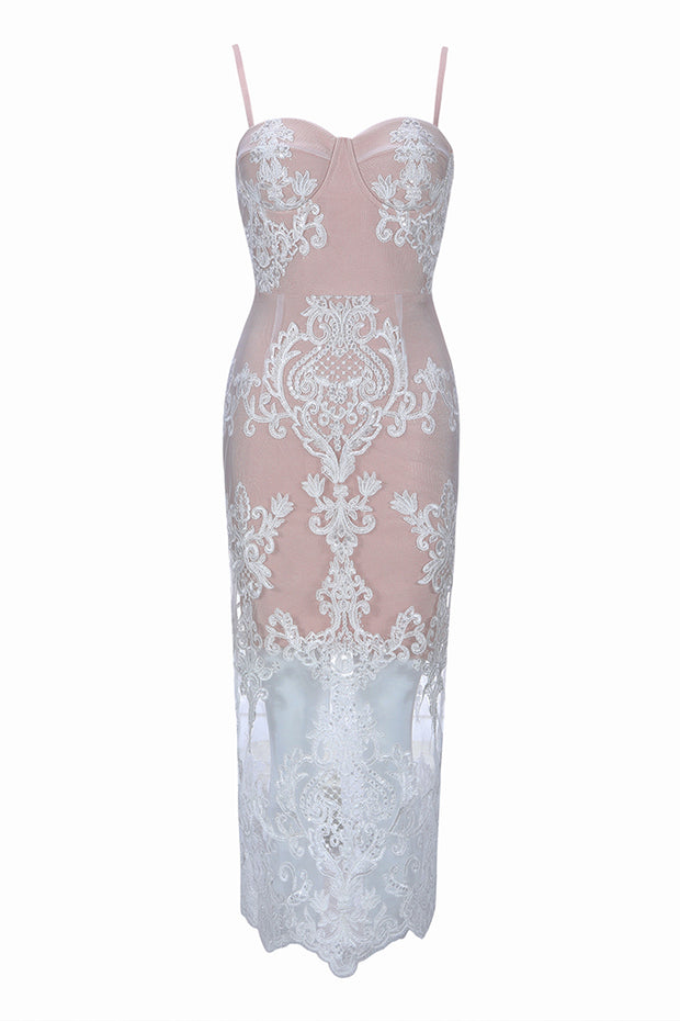 Lace See-Through Bodycon Dress