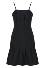 Dorsey Sling Mini Dress-Black