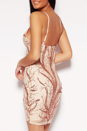 bandage dress V Neck Vintage Sequin Bodycon dress