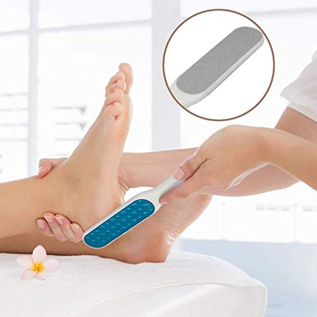 PETW 3 Pcs Pedicure Foot File Callus Remover Set,Double-Sided Colossal Foot Rasp,Foot Scrubber and Nail Brush for Foot Exfoliator and Foot Care