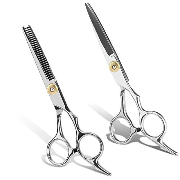 PETW 2 PC Hair Cutting Scissors Set, Hair Cutting Shears Professional Hair Cutting Hairdressing Kit for Women and Men for Home, Salon, Barber
