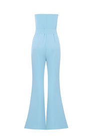 Off Shoulder Bow Tie Boot-cut Pantsuit